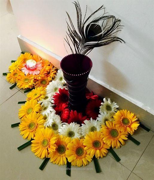 Flower decoration for Diwali     Feste Home Decor is part of Flower decorations - Home Decorations