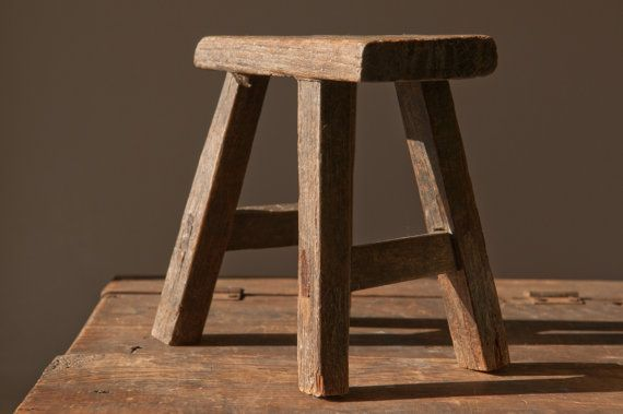 Old Wooden Stool Makeover