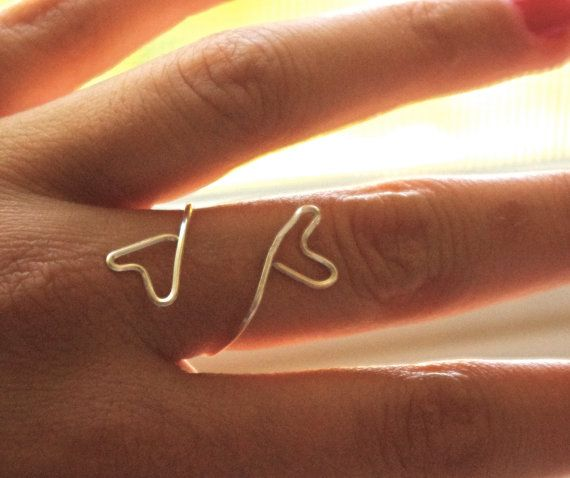 Heart Wire Ring - Silver