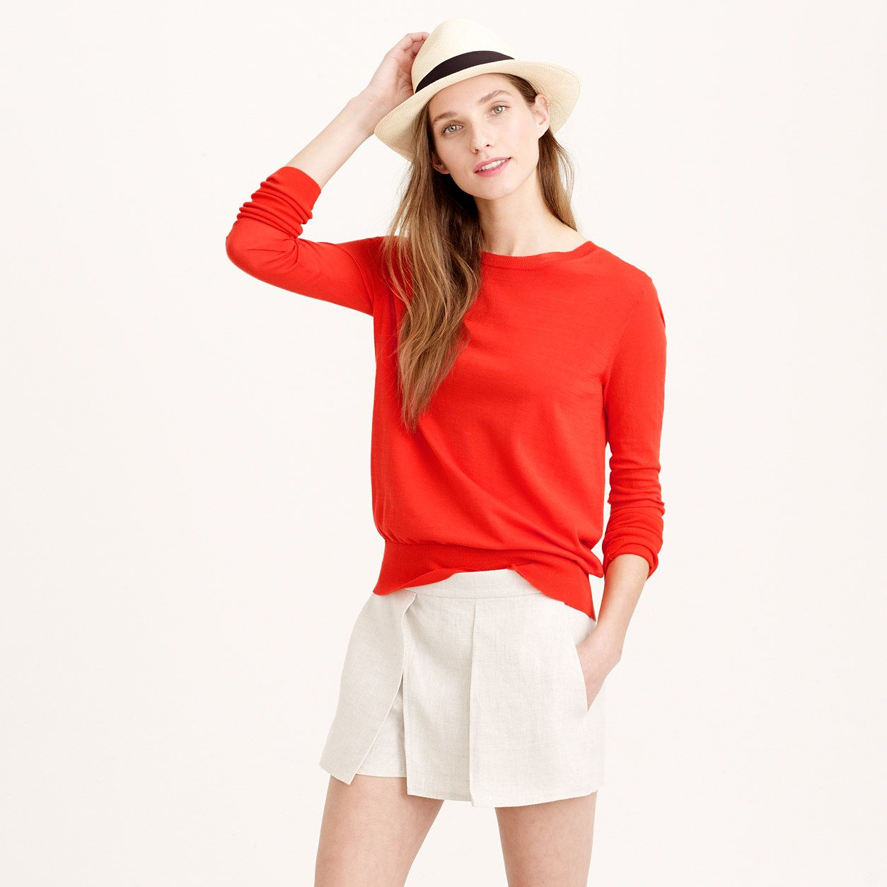 Summerweight cotton sweater : Pullovers | J.Crew | Wear to work ...