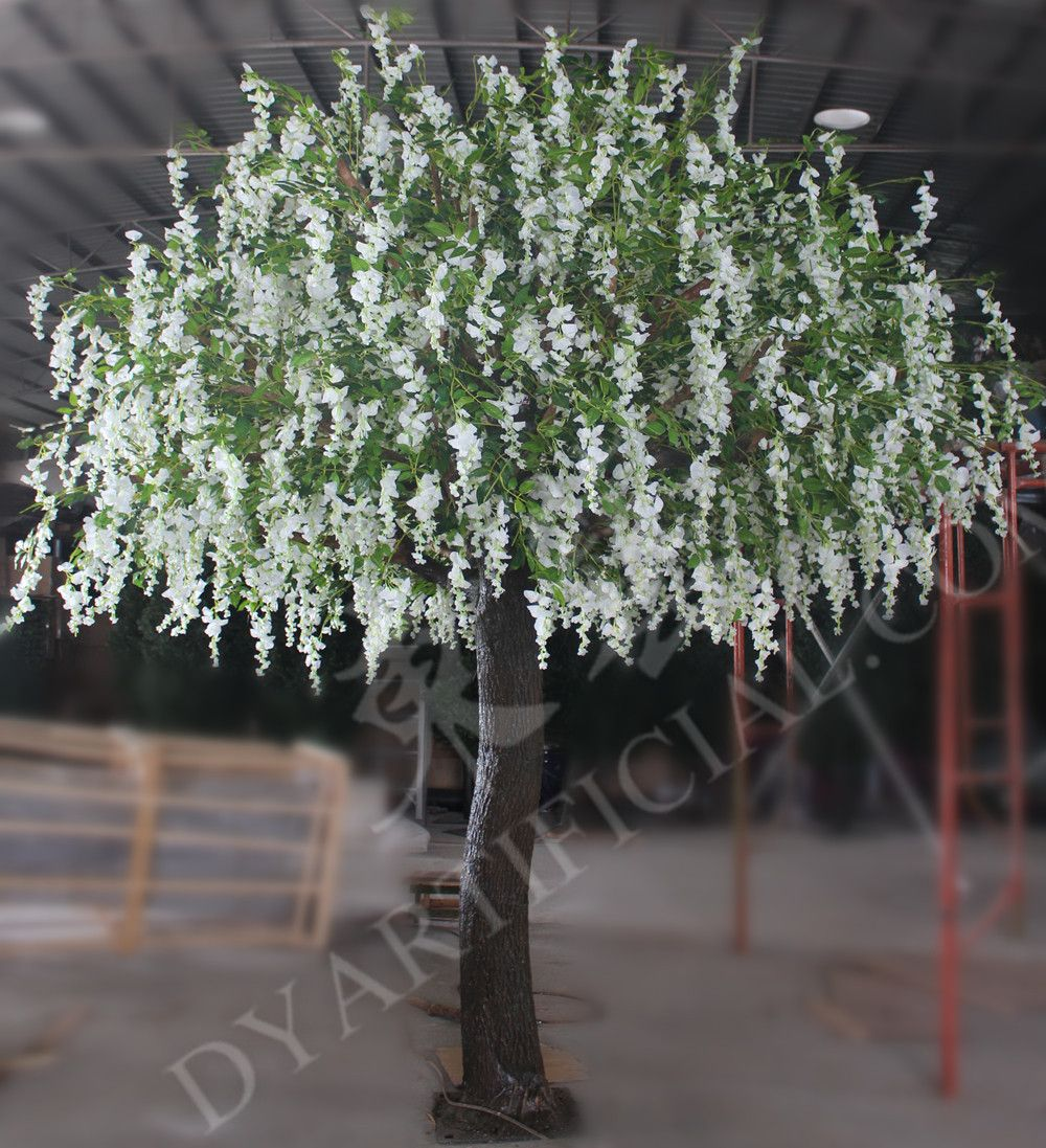 Online Buy 10ft Artificial White Wisteria Flower Tree White Wisteria Flowering Trees Wisteria Tree