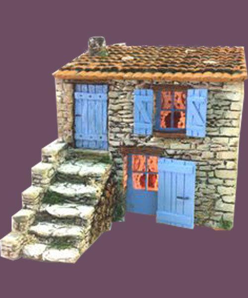 santons atelier de fanny santons et cr ches de no l santons de provence cabanon pierres 52. Black Bedroom Furniture Sets. Home Design Ideas