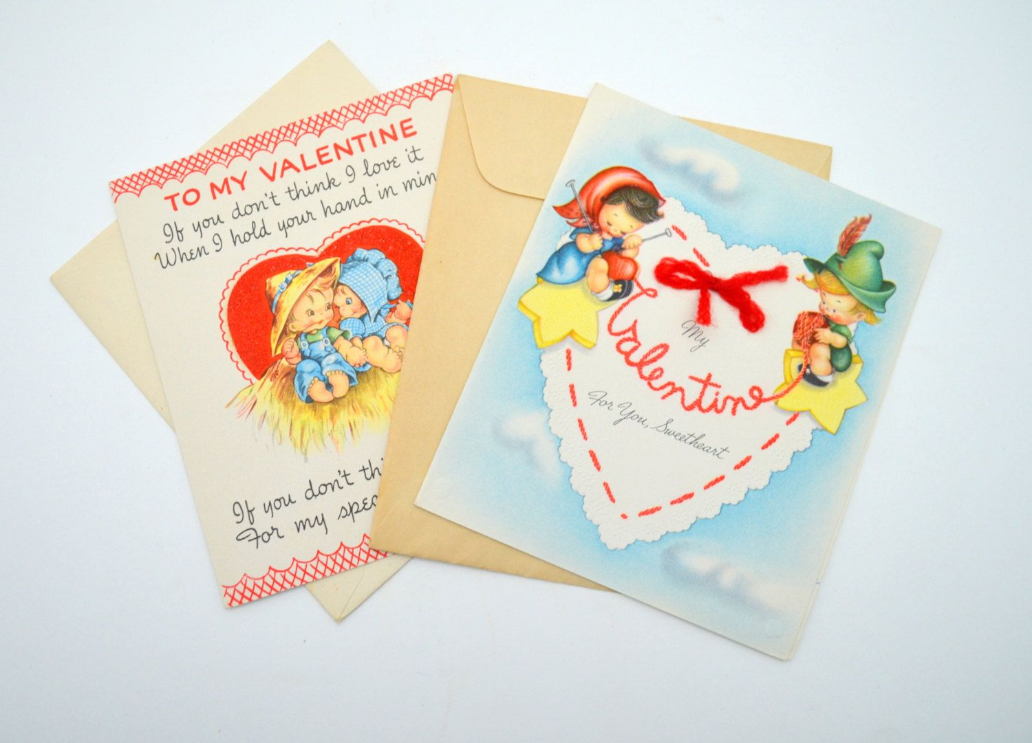 Set Of 2 Vintage Valentines Day Cards American Greetings Vintage