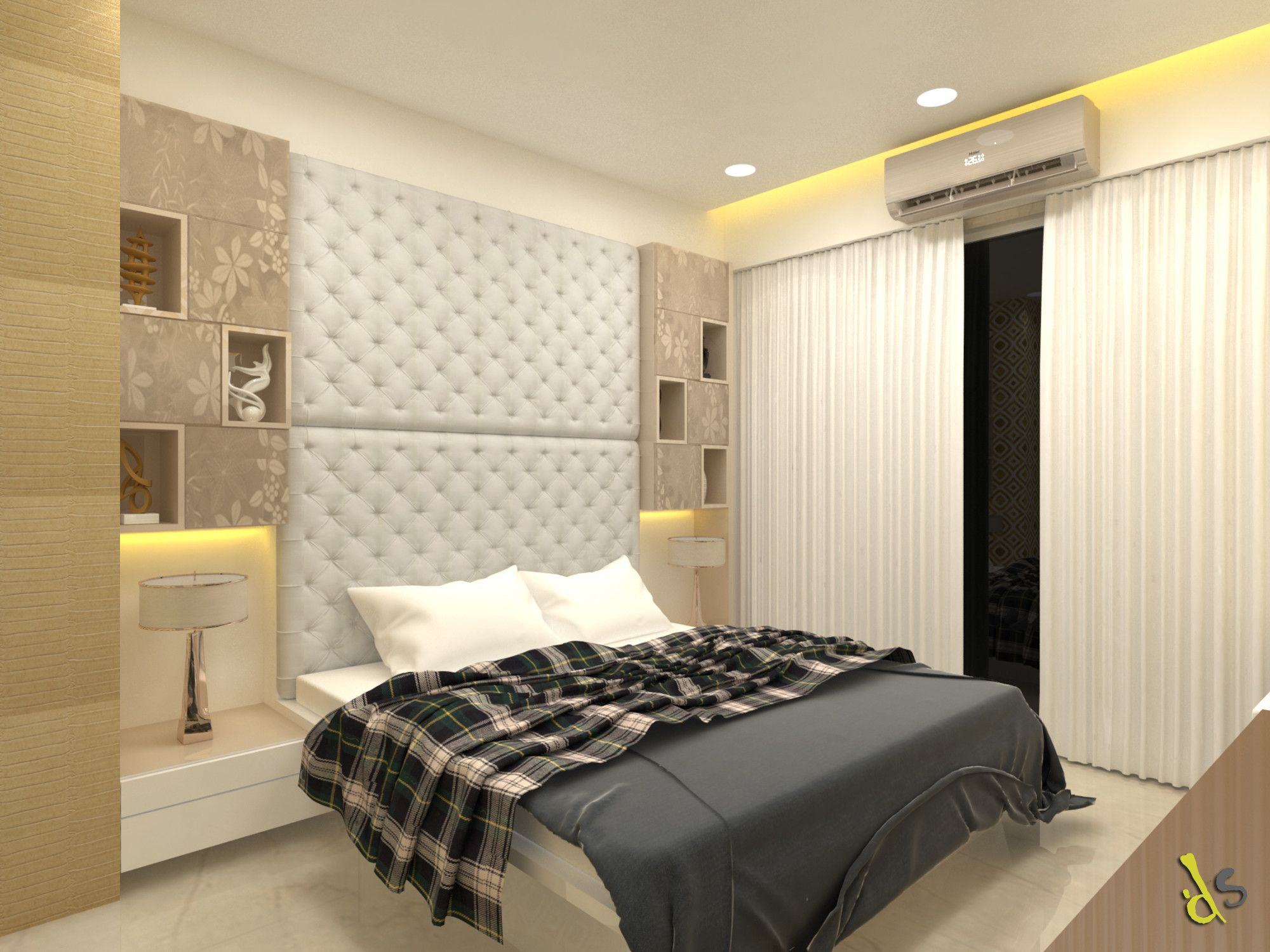 Best Bed Room Interior View Bed Room Having Comfortable Bed 400 x 300