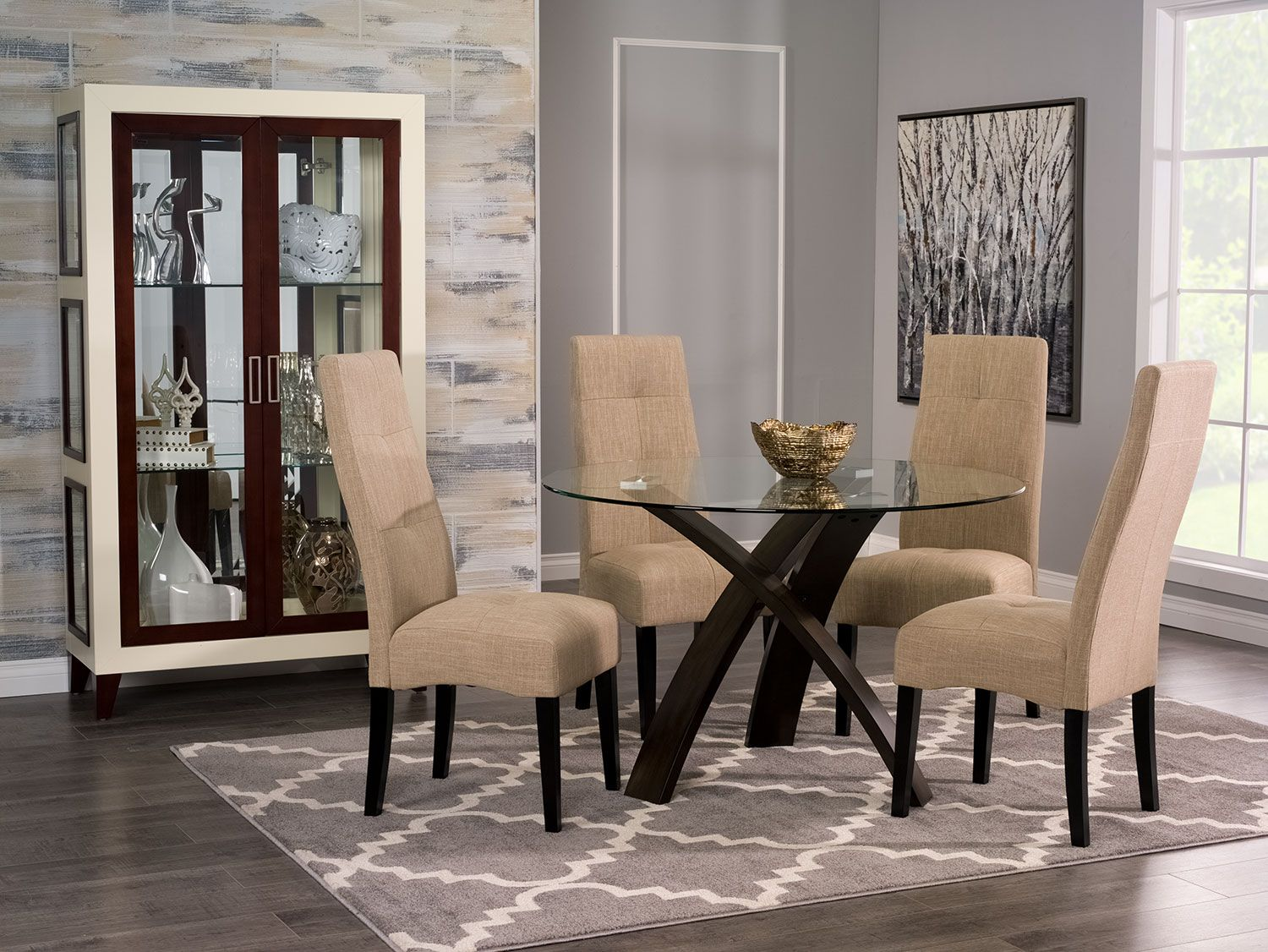 Dining Room Furniture  Skye 5Piece Dining Package With Sadie Enchanting Dining Room Accent Pieces Design Ideas