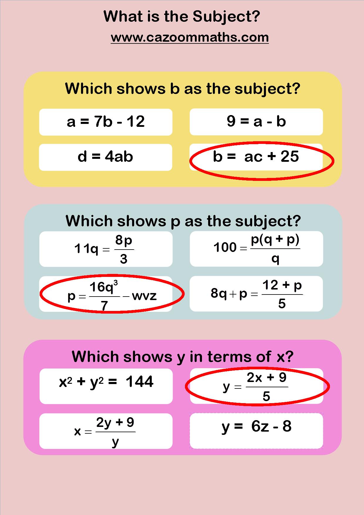 Fun Algebra Worksheets Ks3 And Ks4 Algebra Maths Resources Algebra Worksheets Math Resources Algebra Resources