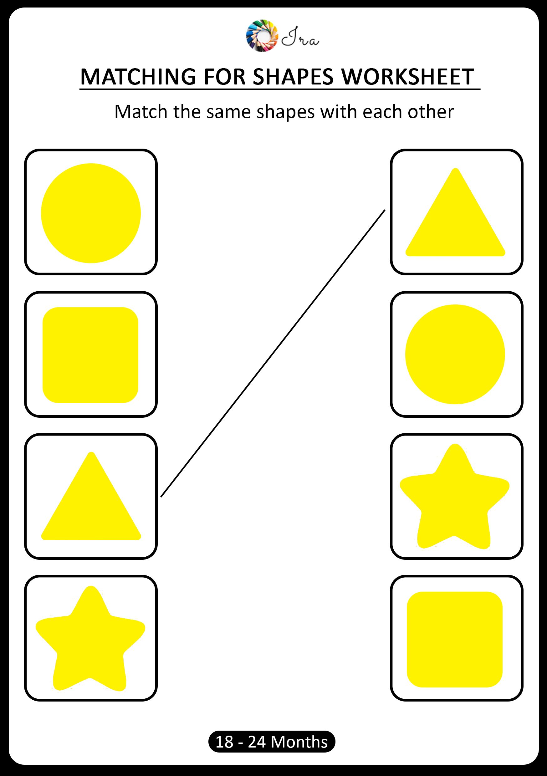 Pin On 18 24 Months Matching For Shapes Worksheets For Kids