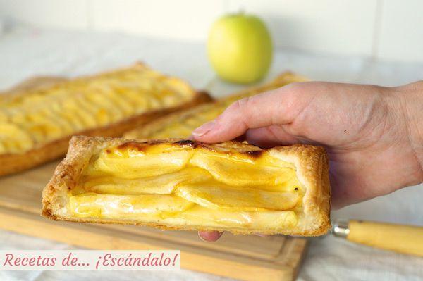 Tarta De Manzana Con Hojaldre Y Crema Pastelera Recetas De Escándalo Receta Crema Pastelera Tarta De Manzana Tarta De Manzana Hojaldre