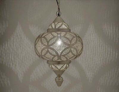 Photo of Brand new Handmade Moroccan Hanging Engraved Pendant Lamp – Silver Bedroom Light    eBay