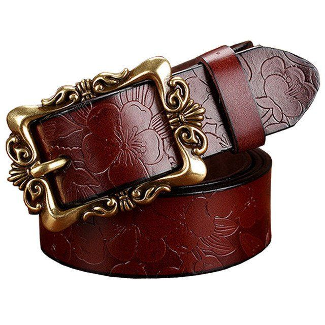 2016 New Fashion Wide Genuine leather belt woman vintage