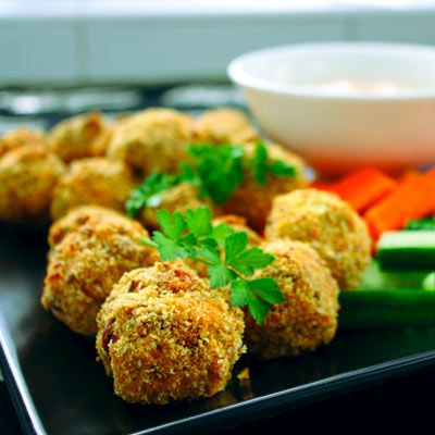 Vegie dots - bake in the oven vegetarian nuggets of goodness.