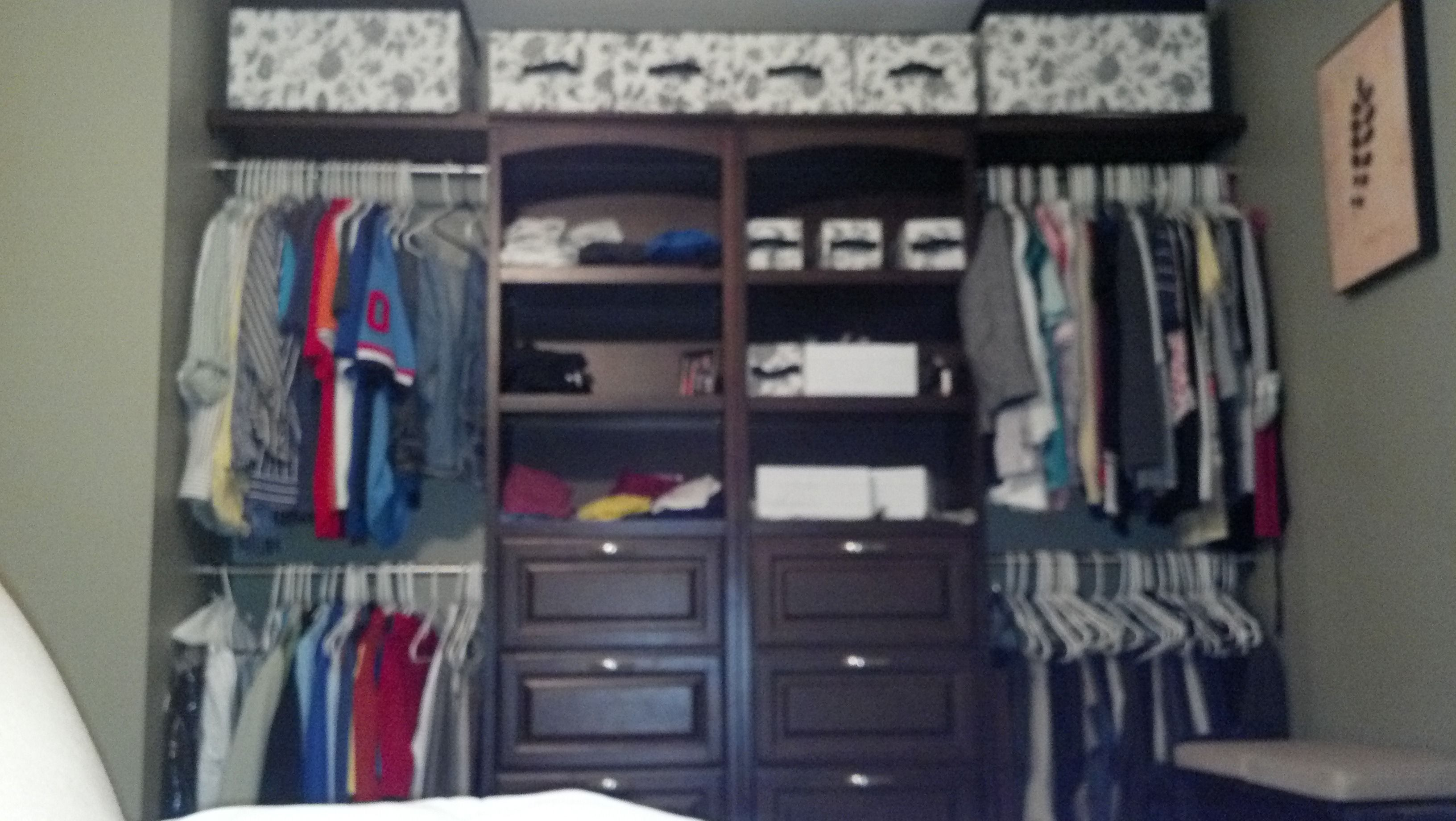 Transitional Allen And Roth Hanging Wood Closet Kit