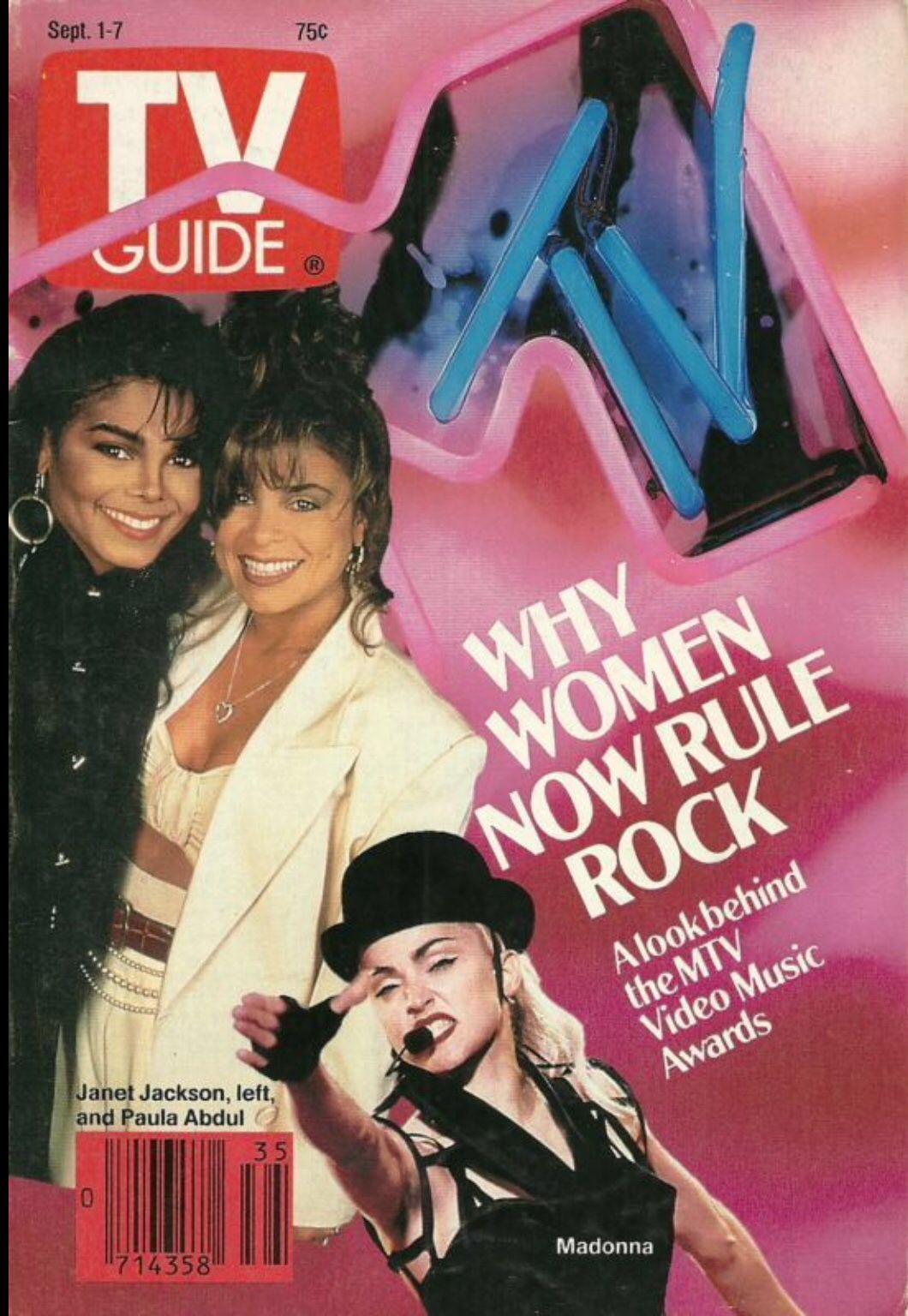 Janet Jackson, Paula Abdul & Madonna (TV Guide)