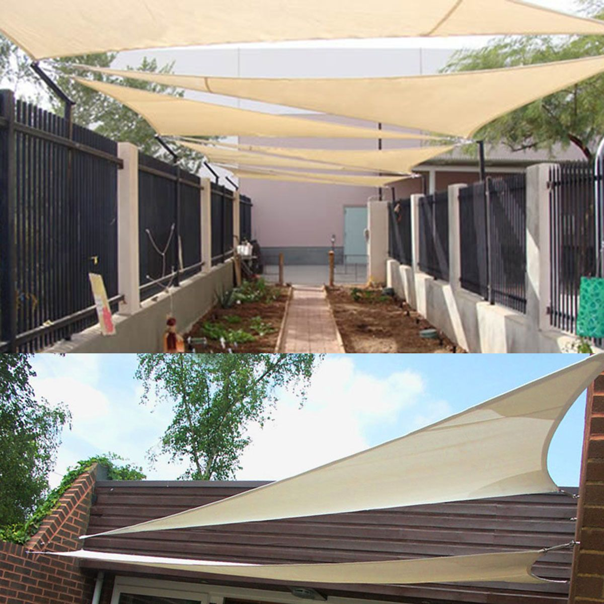 11 8 16 4 Triangle Sun Shade Sail Uv Top Outdoor Canopy Patio Lawn Cover Pool