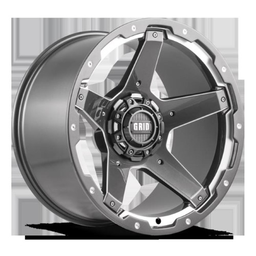 20 X 9 In. Gloss Graphite With Natural Accents Wheels For