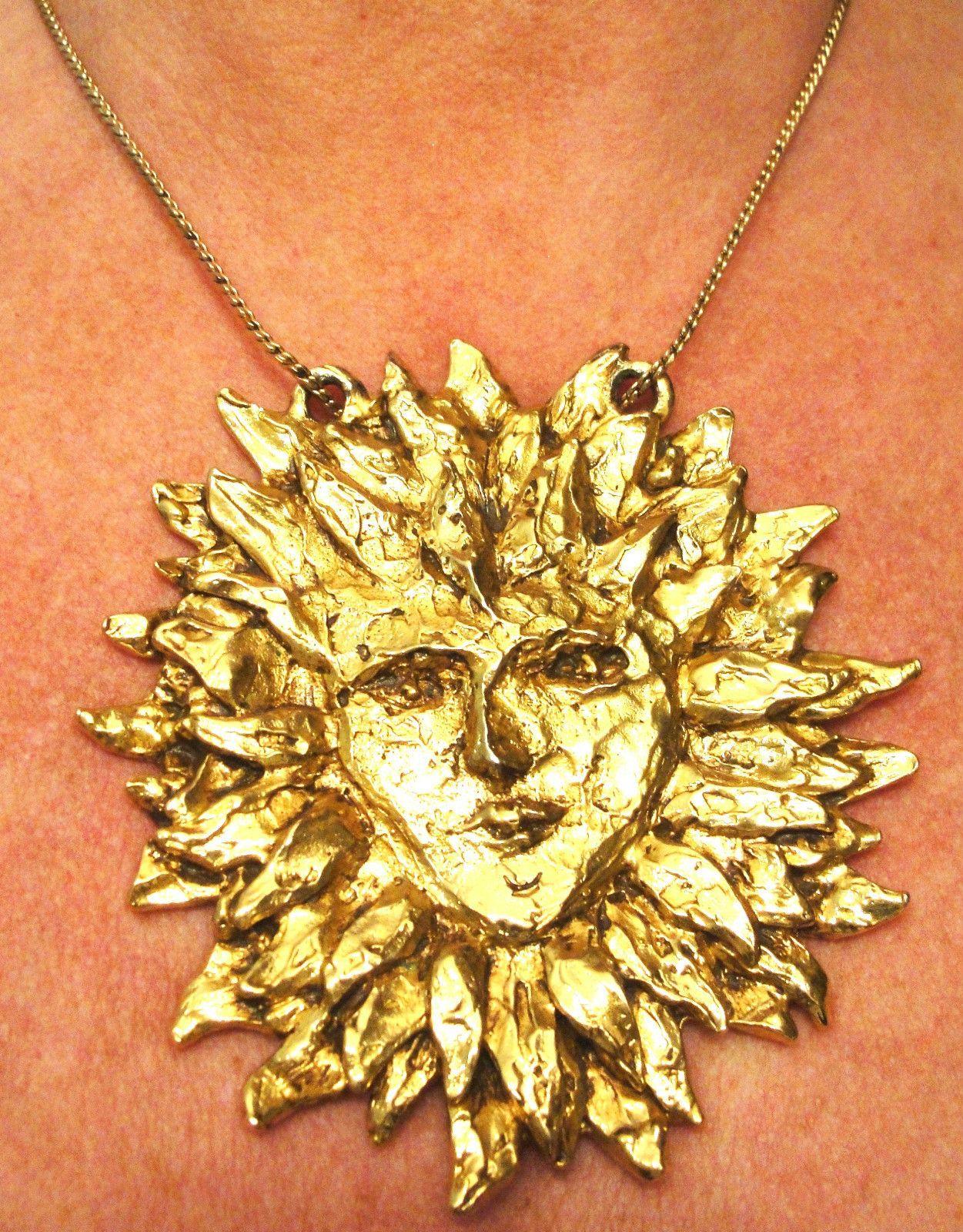 Ysl vintage sun pendant vintage jewelry accessories clothing