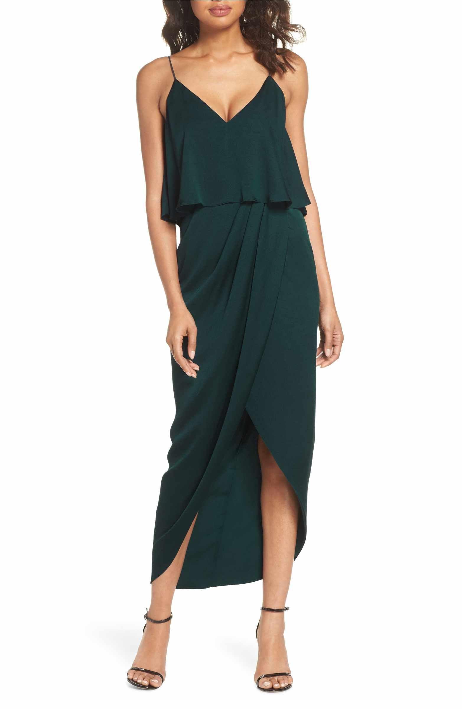 047d1fddfe8 Main Image - Shona Joy Luxe Frill Tulip Hem Maxi Dress