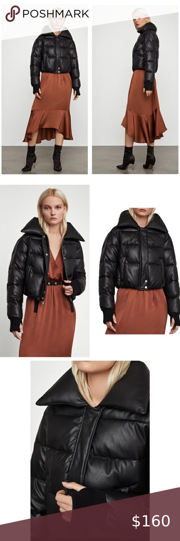 Bcbgmaxazria Clara Faux Leather Puffer Jacket Leather Puffer Jacket Jackets Clothes Design [ 1740 x 580 Pixel ]
