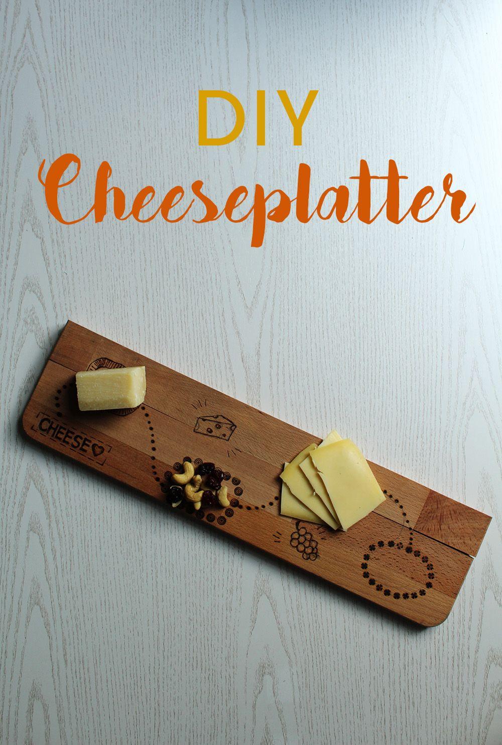 diy: käseplatte mit holzbrenner gestalten | pinterest