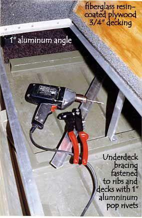 Jon Boat Deck Aluminum Brace Detail Build It Jon Boat