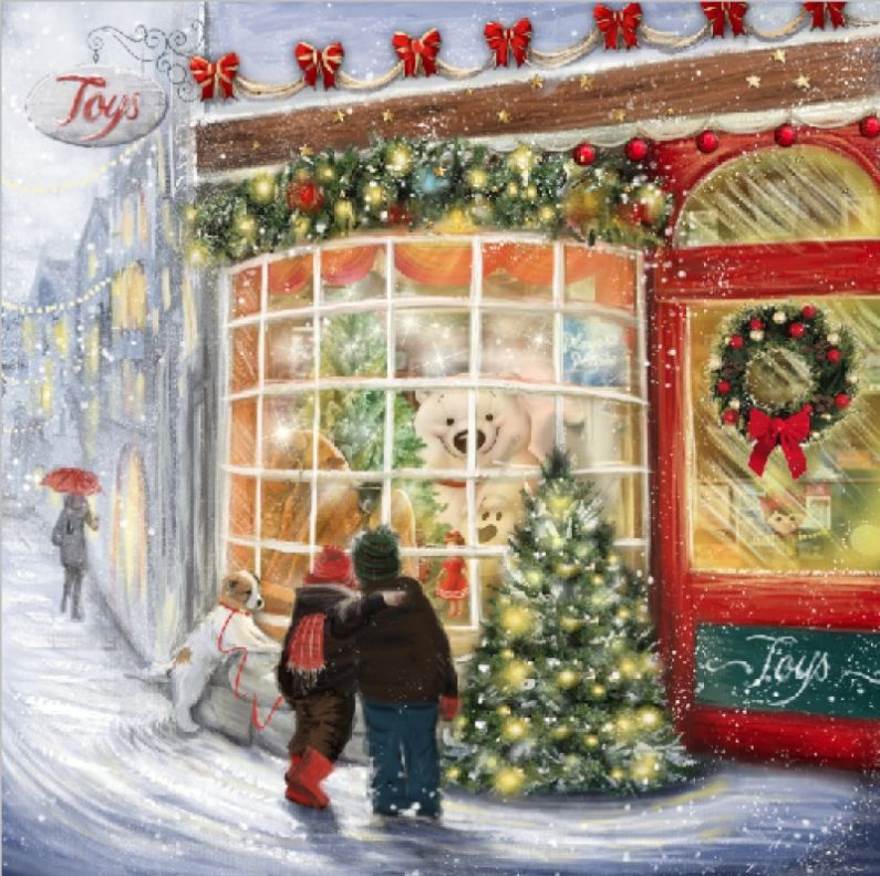 Toys Boutique Storefront Winter Greetings | Drawn to better | Astound.us