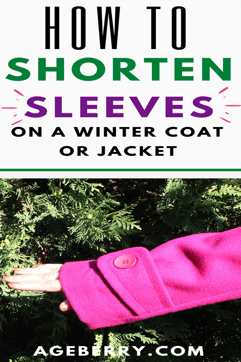 How to shorten sleeves on a winter coat or jacket with lining - alteration tutorial
