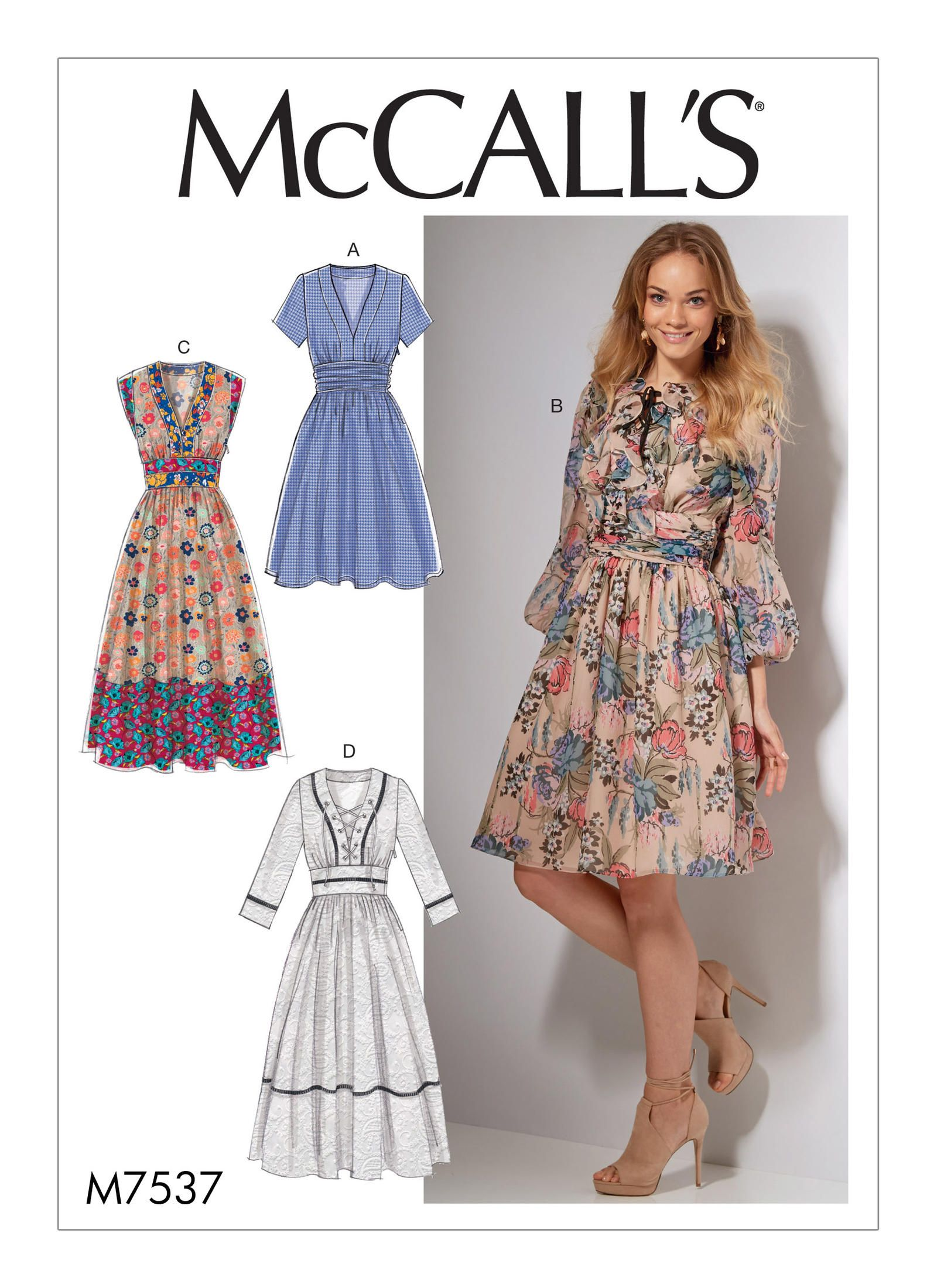McCall\'s 7537 Misses\' Banded, Gathered-Waist Dresses | Pinterest ...