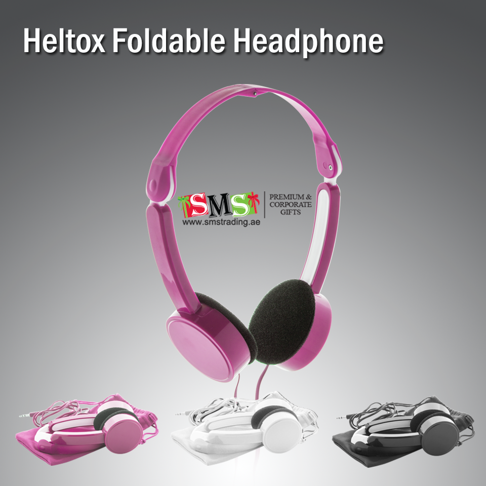 Heltox Foldable Headphonefoldable Plastic Headphones With 35 Mm Audio Jack Wiring Connection In Polyester Pouchperfect For Travel Or The Home