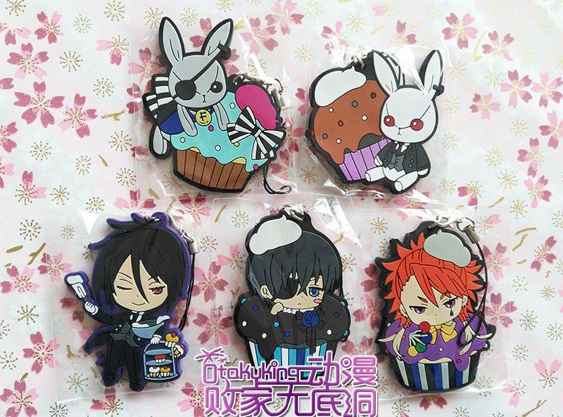 5 Pcs Set Anime Kuroshitsuji Figures Black Butler Book Of Circus