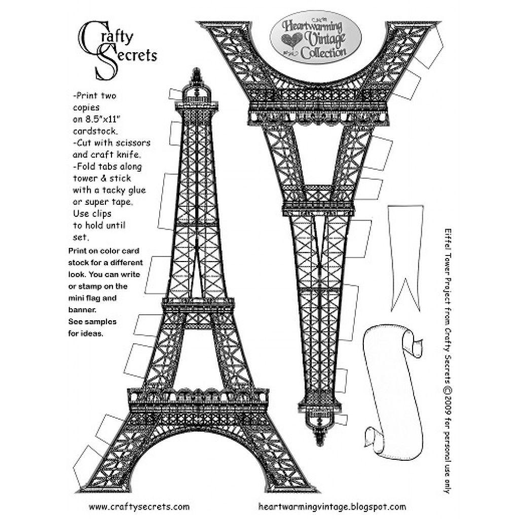 Refreshing Printable Eiffel Tower