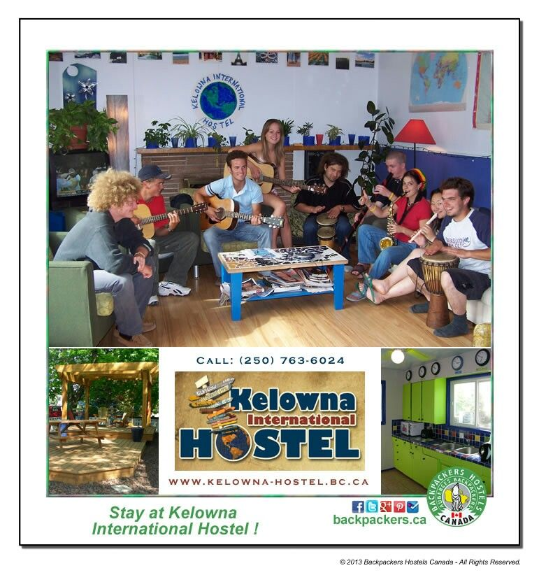 Stay at Kelowna International Hostel Winery tours
