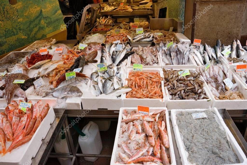 Italian Fish Market Many Different Fresh Fishes Stock Photo Aff Market Fish Italian Fresh Ad Fresh Fish Eat Fresh