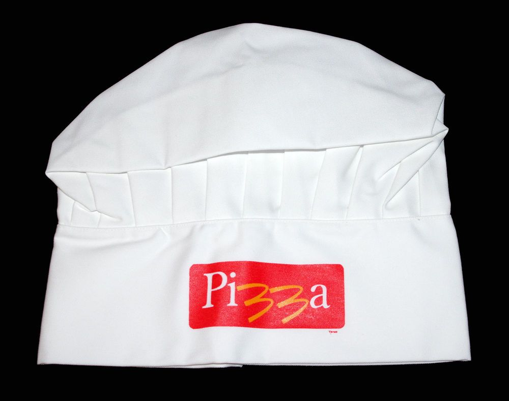 Rare McDonalds Vtg Pizza Logo Employee Kitchen Uniform White Chefs ...