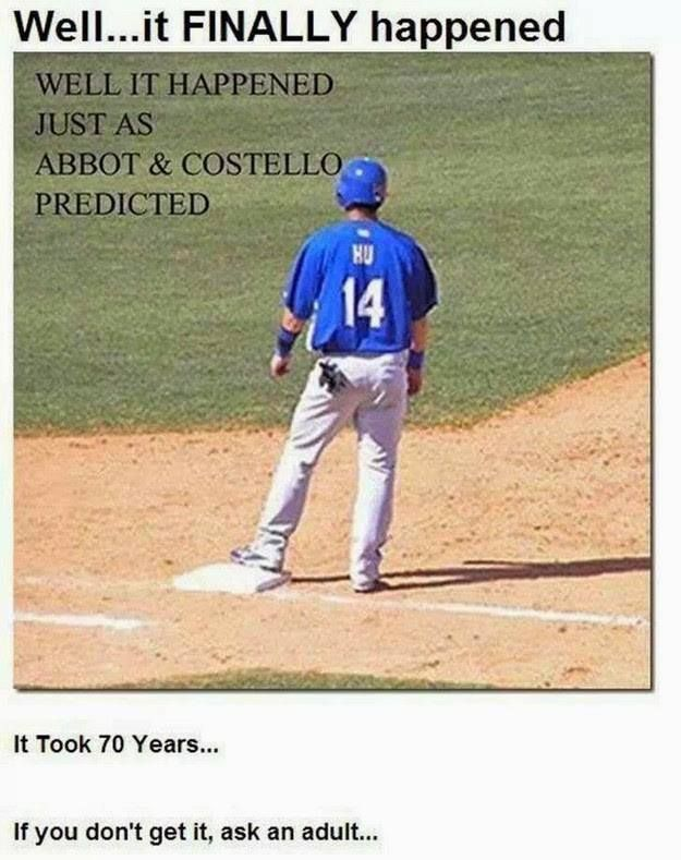 It Finally Happened Hu S On First Haha Baseball Humor Sports Humor Laugh