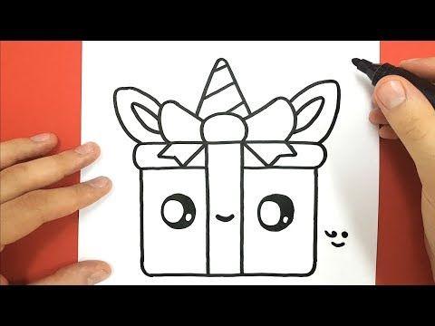Comment Dessiner Un Cadeau Licorne Kawaii Youtube