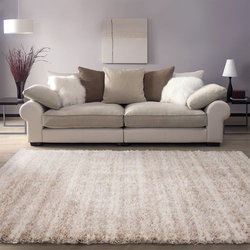 Ecarpetgallery Yeti Champagne And Cream Shag Area Rug 10 X 8