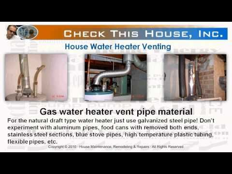 Hot Water Heater Venting How To Vent A Gas Water Heater Youtube Gas Water Heater Water Heater Water Heater Installation