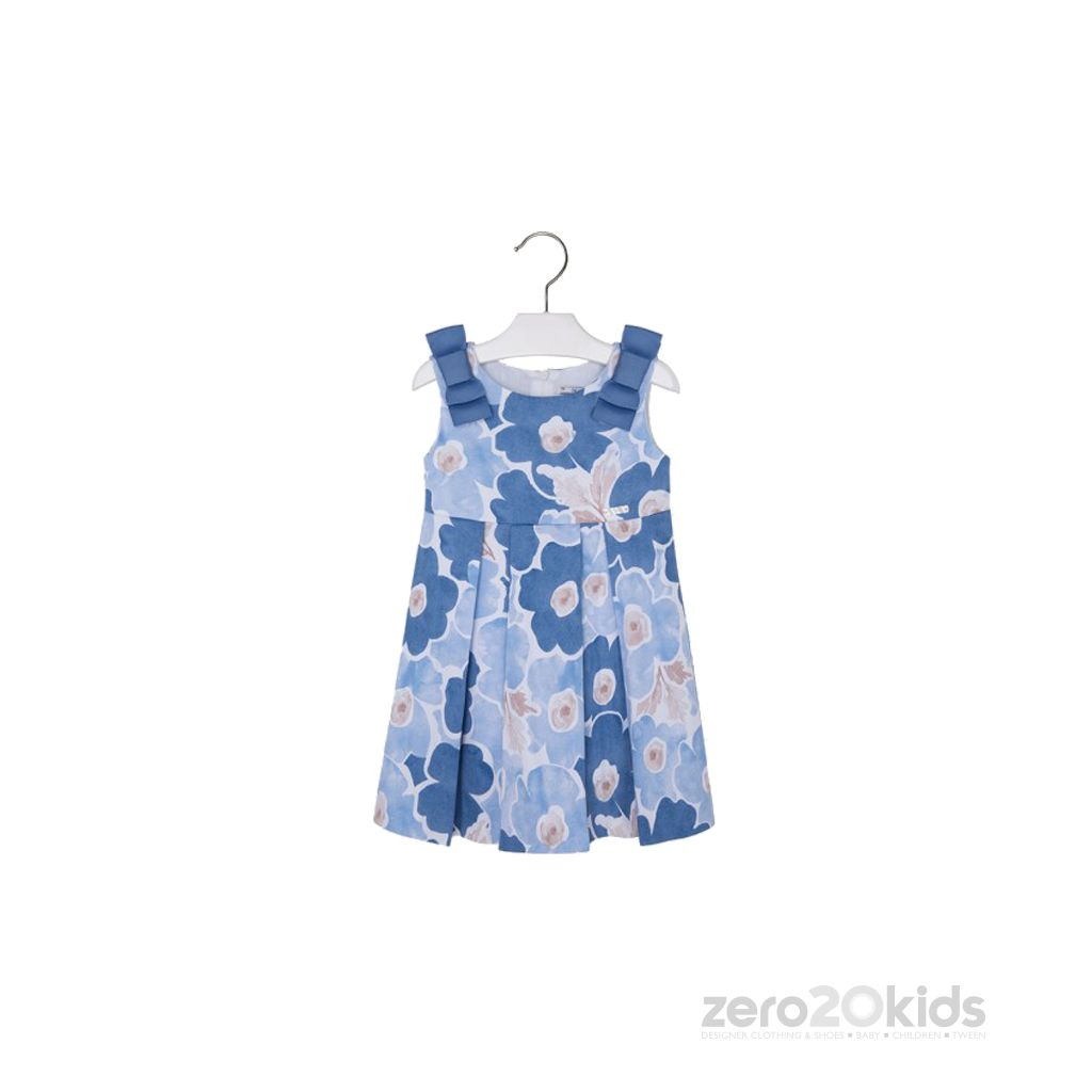 Mayoral - Blue Printed Dress (2-6) - essential for the spring and summer seasons as it has a fresh and stylish look.