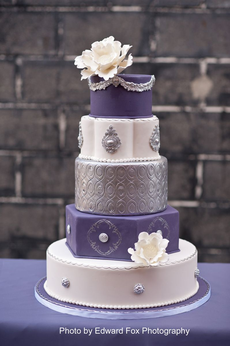 purple and silver wedding cake wedding amp bridal cakes purple and gray silver wedding 18872
