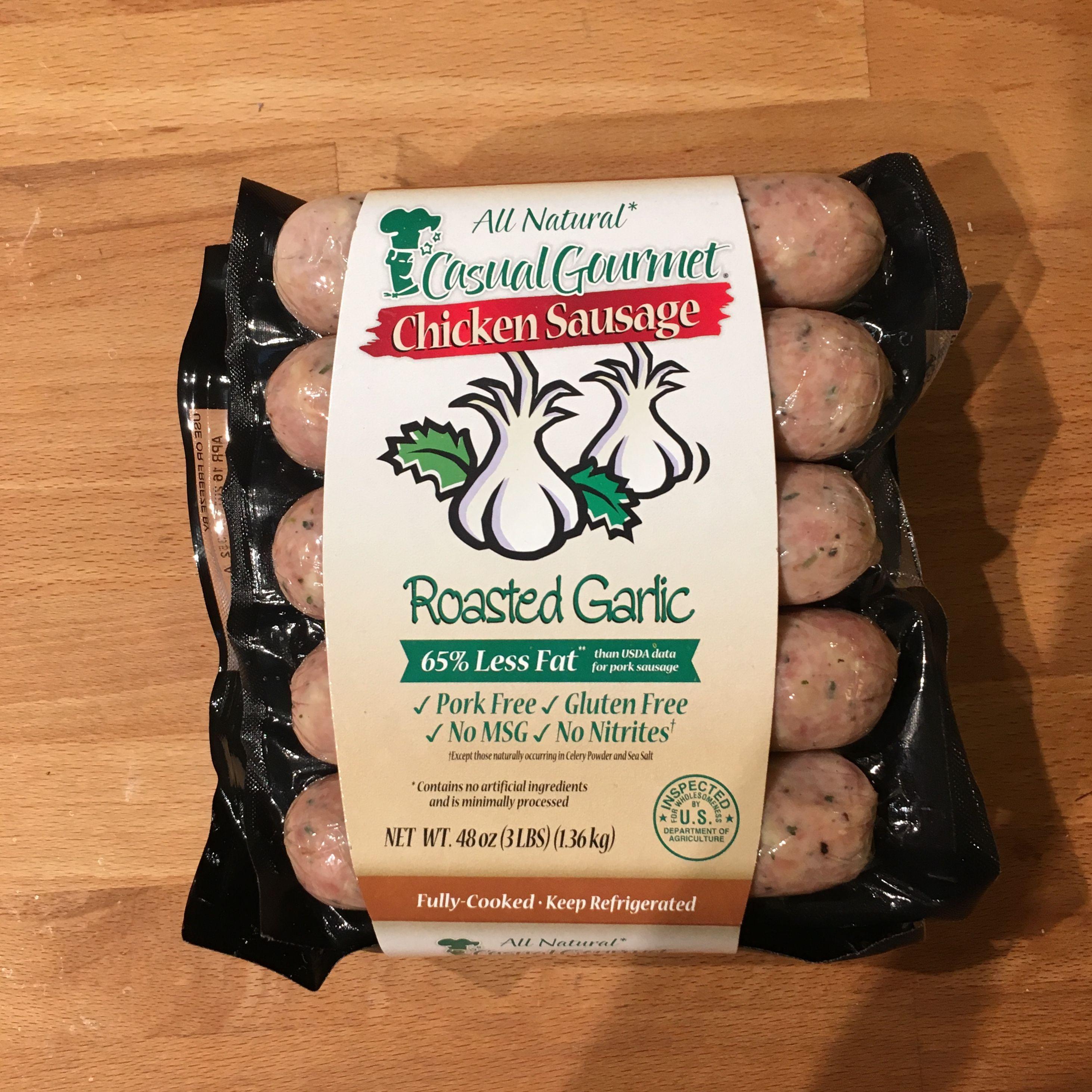 Chicken sausage no nitrites roasted garlic chicken