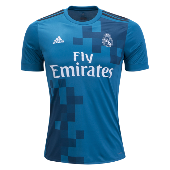 45a3faa2b 17-18 Real Madrid Third Away Blue Soccer Jersey Kit(Shirt+Short ...