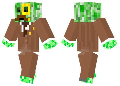 Gentleman Creeper Skin For Minecraft PE Httpminecraftpedownload - Skins para minecraft pe trunks