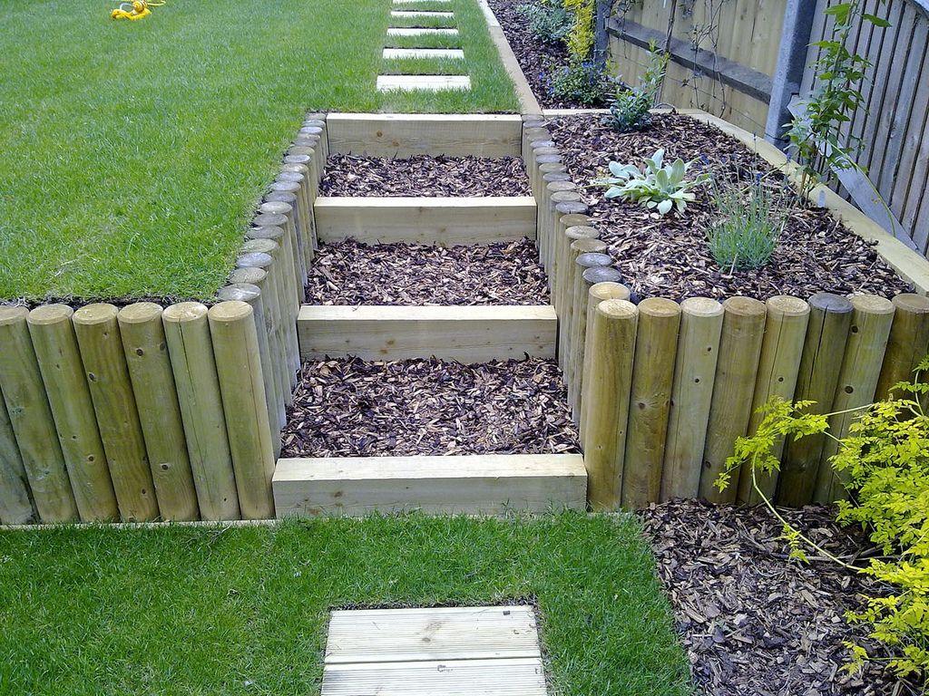 Terracing a sloping garden | Sloped garden, Large backyard ...