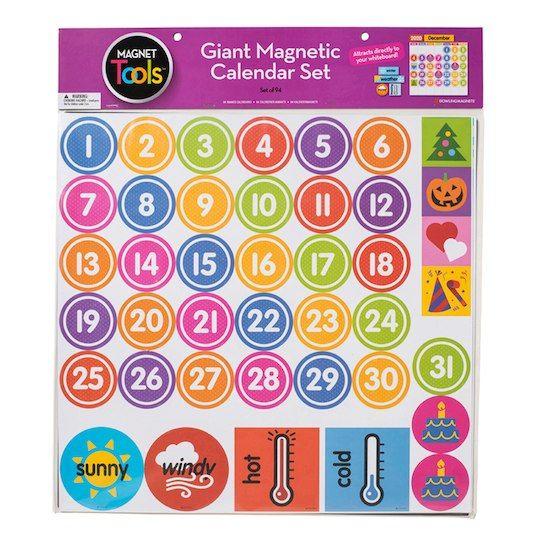 Magnets Tools Giant Magnetic Calendar Set Magnetic Calendar