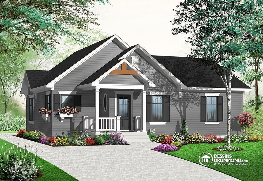 Détail du plan de Maison unifamiliale W3131 Trano mora Pinterest - liste materiaux construction maison