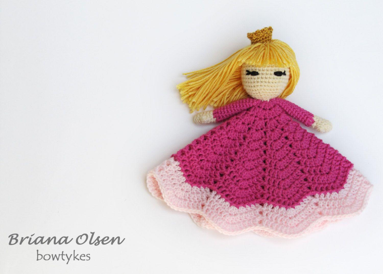 Pretty Princess Lovey CROCHET PATTERN instant download - blankey ...