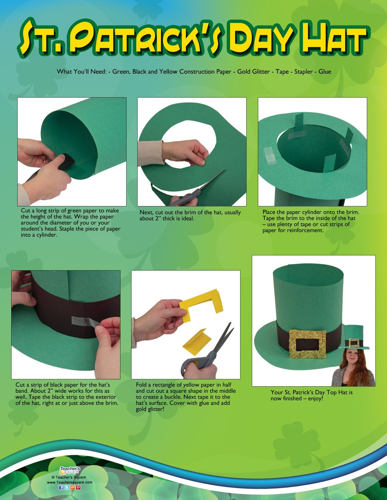 St patricks crafts for preschoolers - Just Your Luck We Have A St Patrick S Day Hat Craft For You And