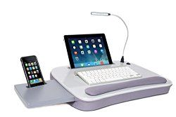College Gift Ideas - Multi Tasking Memory Foam Lap Desk with USB Light would be a perfect gift for any college student that needs to work on their bed or doesn't want the heat from their laptop burning them.