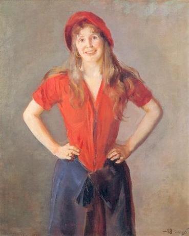 Oda Krogh Portrett Antikken Kunst