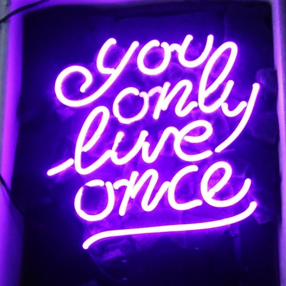 "New You Only Live Once Beer Bar Neon Light Sign 17""x14"
